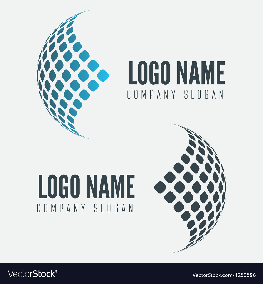 Abstract web icon globe abstract logo vector | Price: 1 Credit (USD $1)