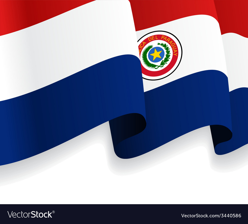Background with waving paraguayan flag vector | Price: 1 Credit (USD $1)