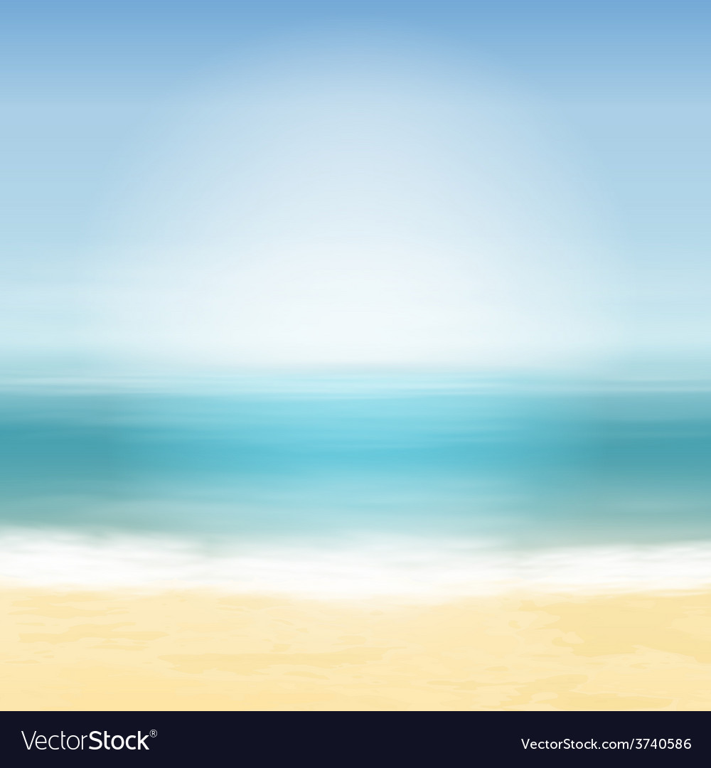 Beach and blue sea vector | Price: 1 Credit (USD $1)