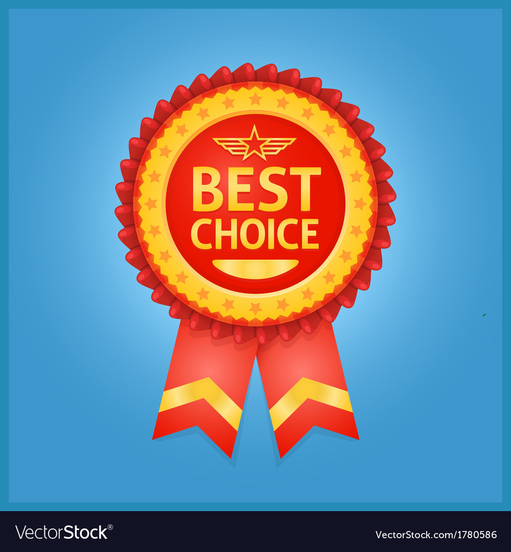 Best choice red label on blue vector | Price: 1 Credit (USD $1)