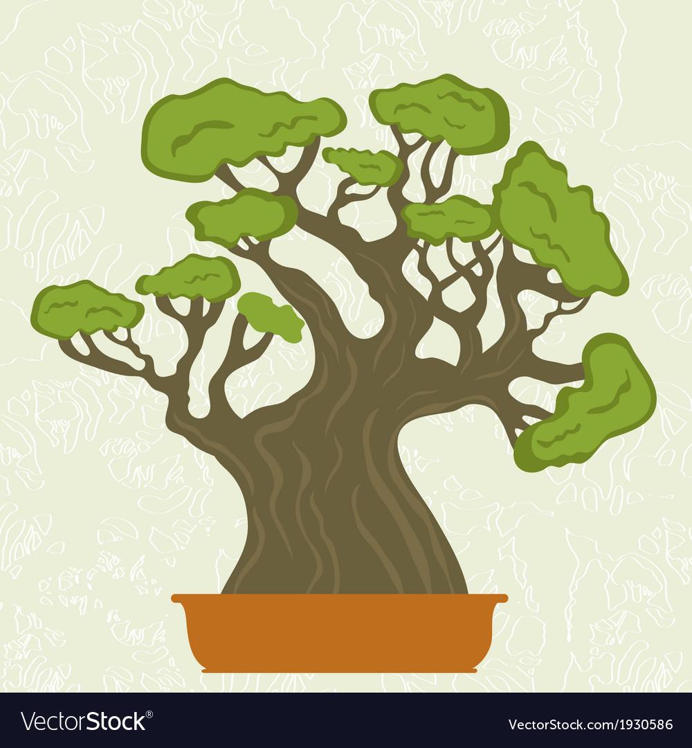 Bonsai tree vector | Price: 1 Credit (USD $1)