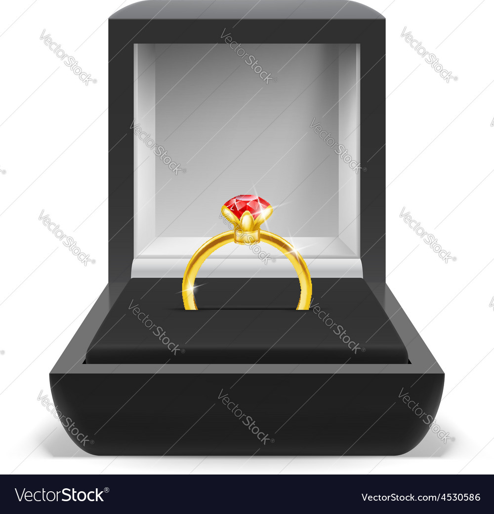 Box for ring vector | Price: 3 Credit (USD $3)