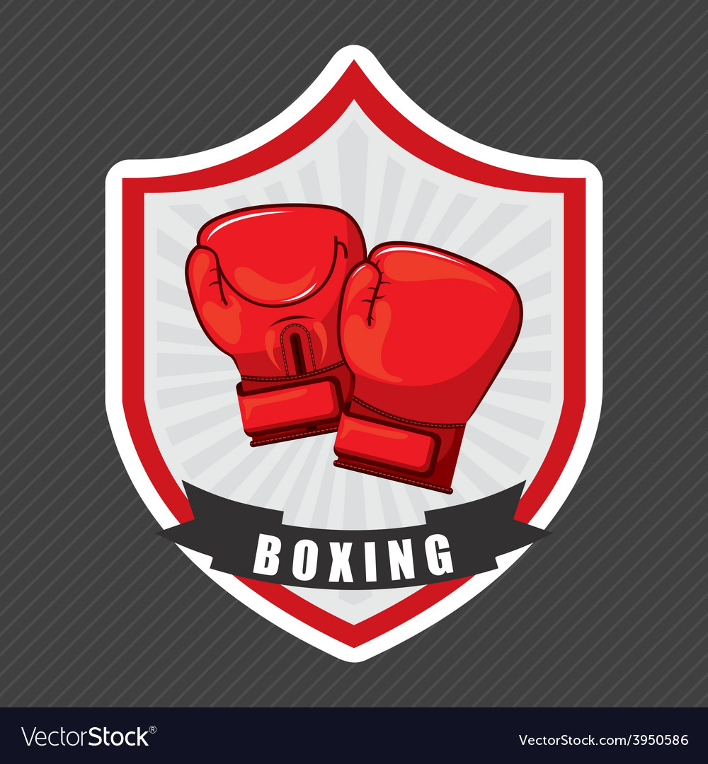 Boxing emblem vector | Price: 1 Credit (USD $1)