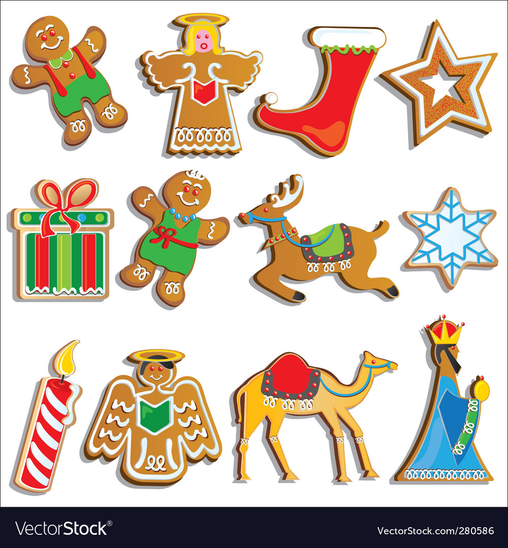 Christmas cookies vector | Price: 3 Credit (USD $3)
