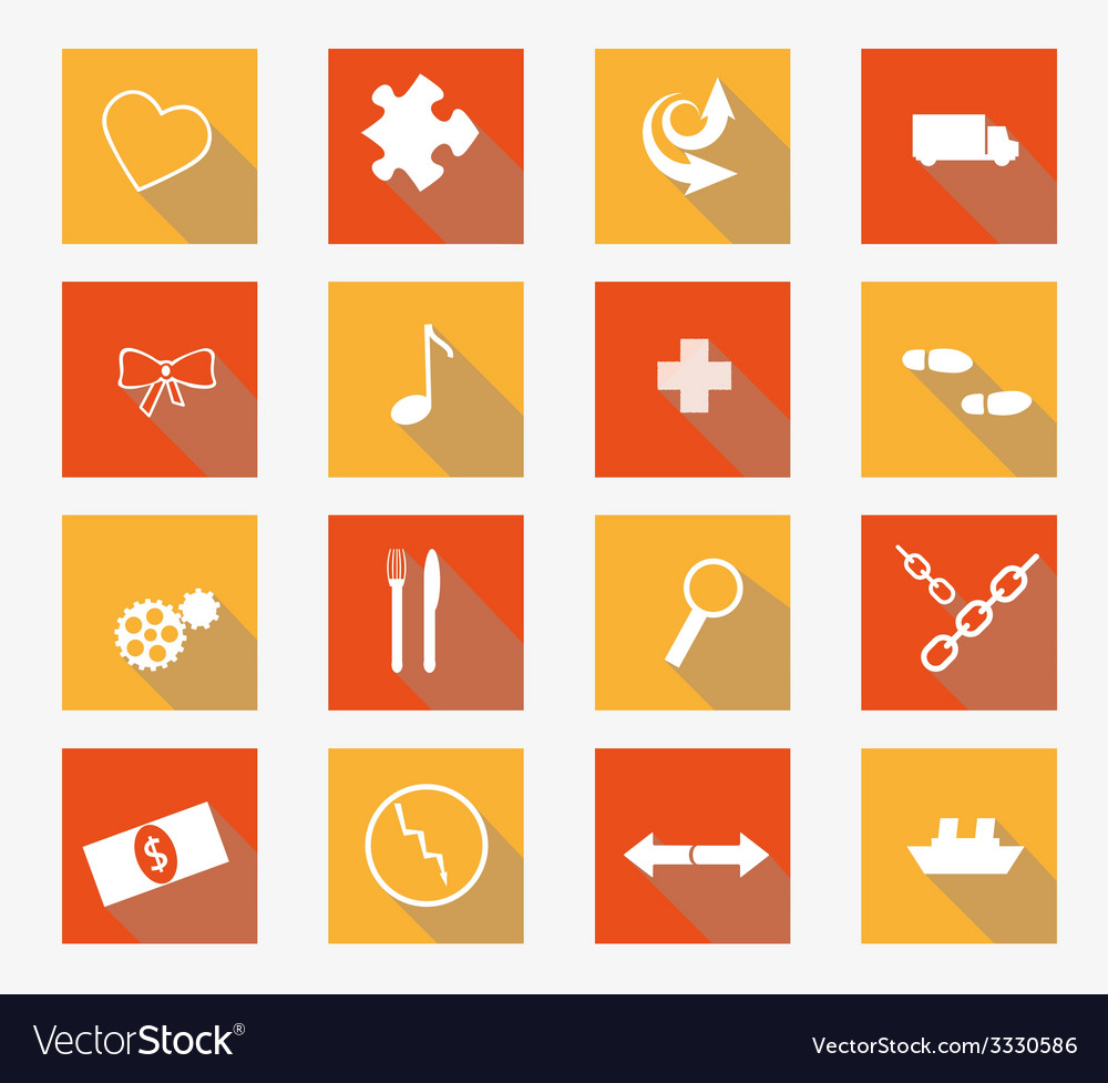 Collection of flat icons vector | Price: 1 Credit (USD $1)