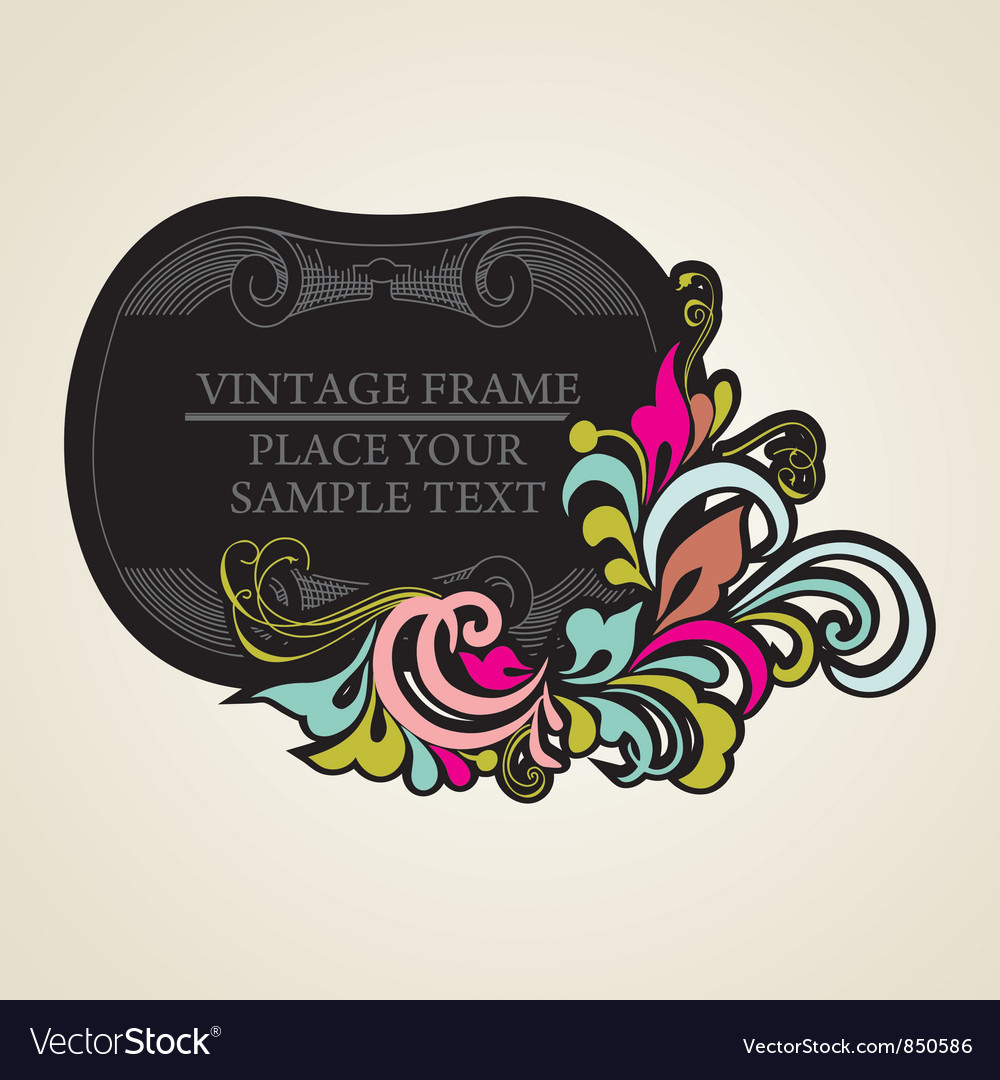 Elegance vintage frames for your text vector | Price: 1 Credit (USD $1)