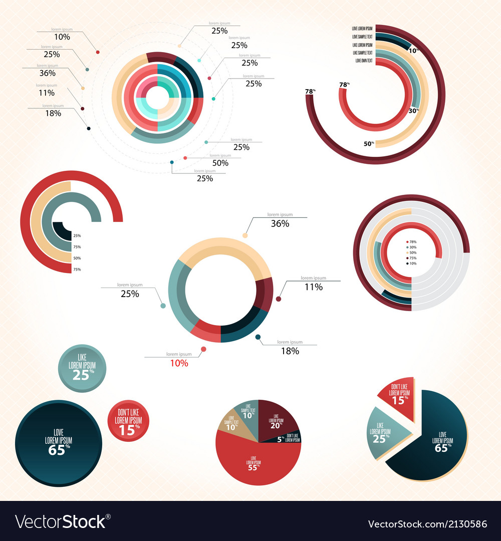 Pie chart style vector   Price: 1 Credit (USD $1)