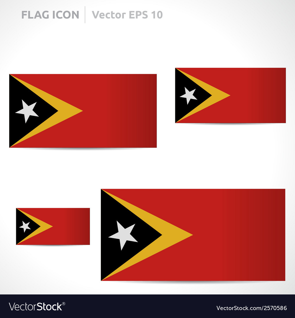Timor-leste flag template vector | Price: 1 Credit (USD $1)