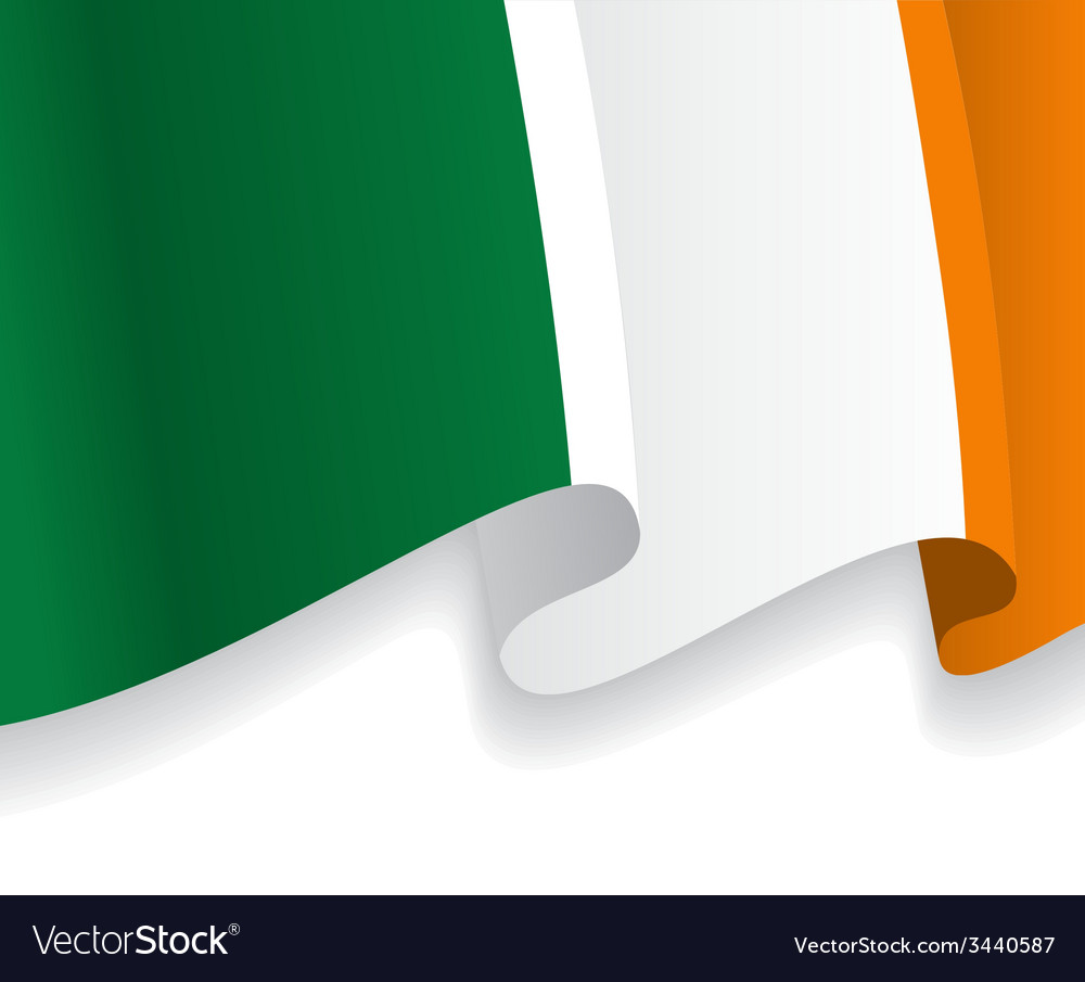 Background with waving irish flag vector | Price: 1 Credit (USD $1)