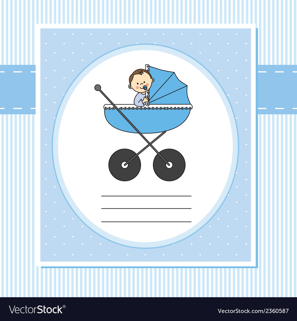 Birth card boy vector | Price: 1 Credit (USD $1)