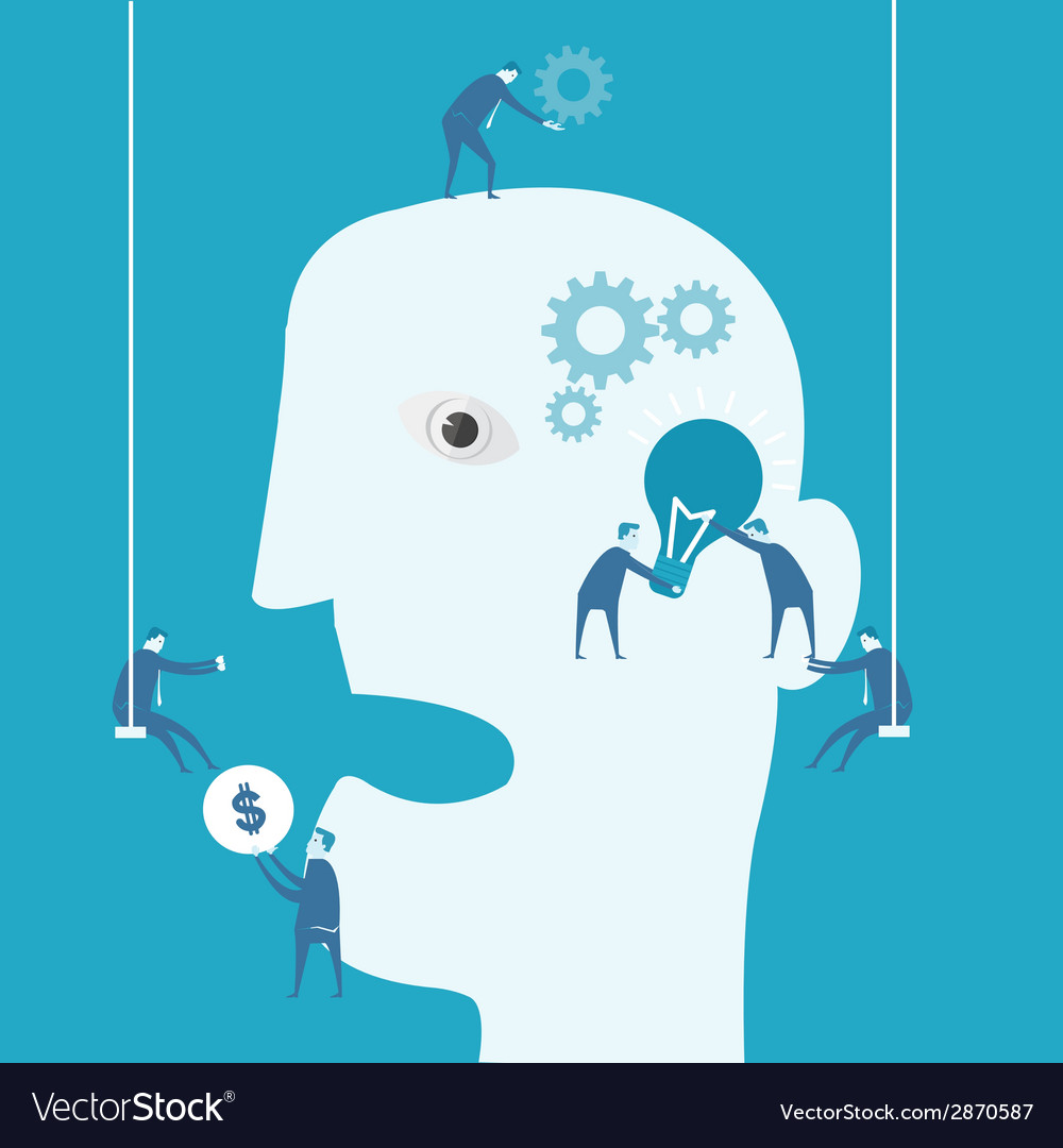 Brainstorm and teamwork concept vector | Price: 1 Credit (USD $1)
