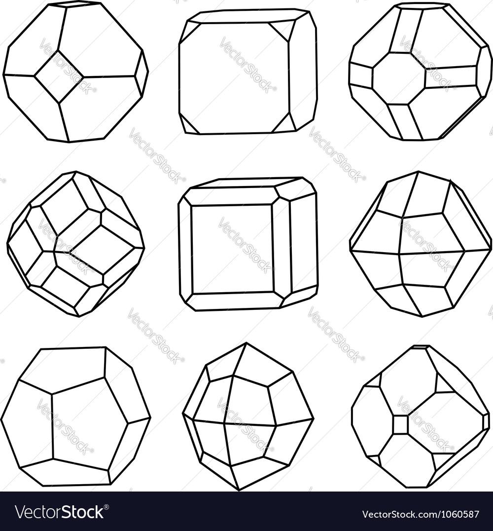 Crystals vector | Price: 1 Credit (USD $1)