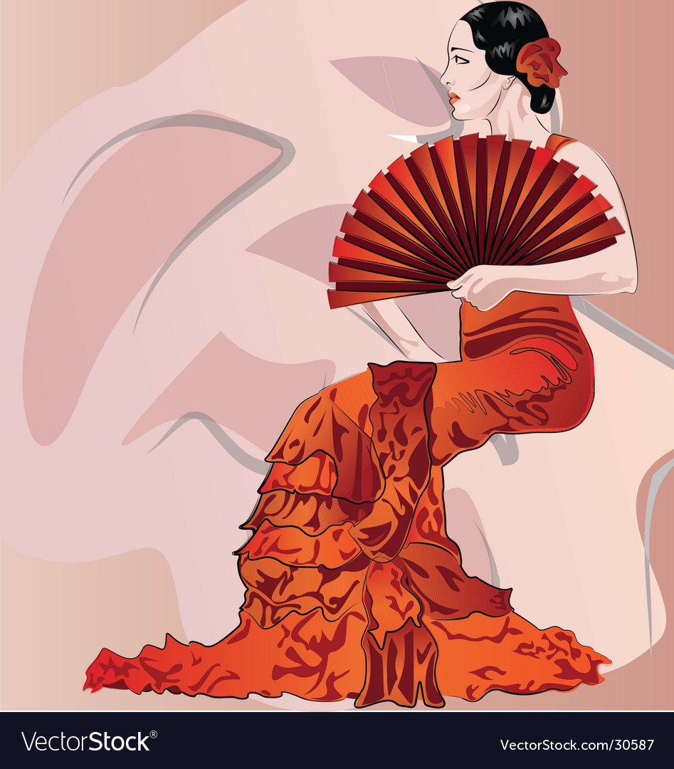 Flamenco vector | Price: 3 Credit (USD $3)