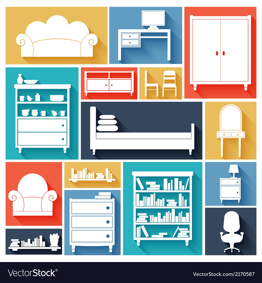 Furniture icons set vector   Price: 1 Credit (USD $1)