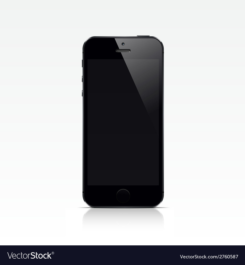 Smart phone isolated on white background vector   Price: 1 Credit (USD $1)