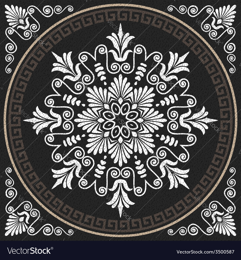 White greek ornament meander vector | Price: 1 Credit (USD $1)