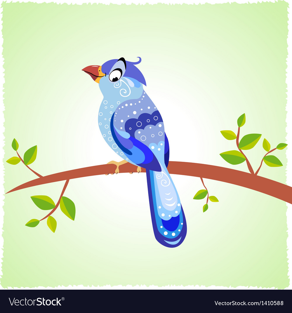 Bird blue vector | Price: 1 Credit (USD $1)