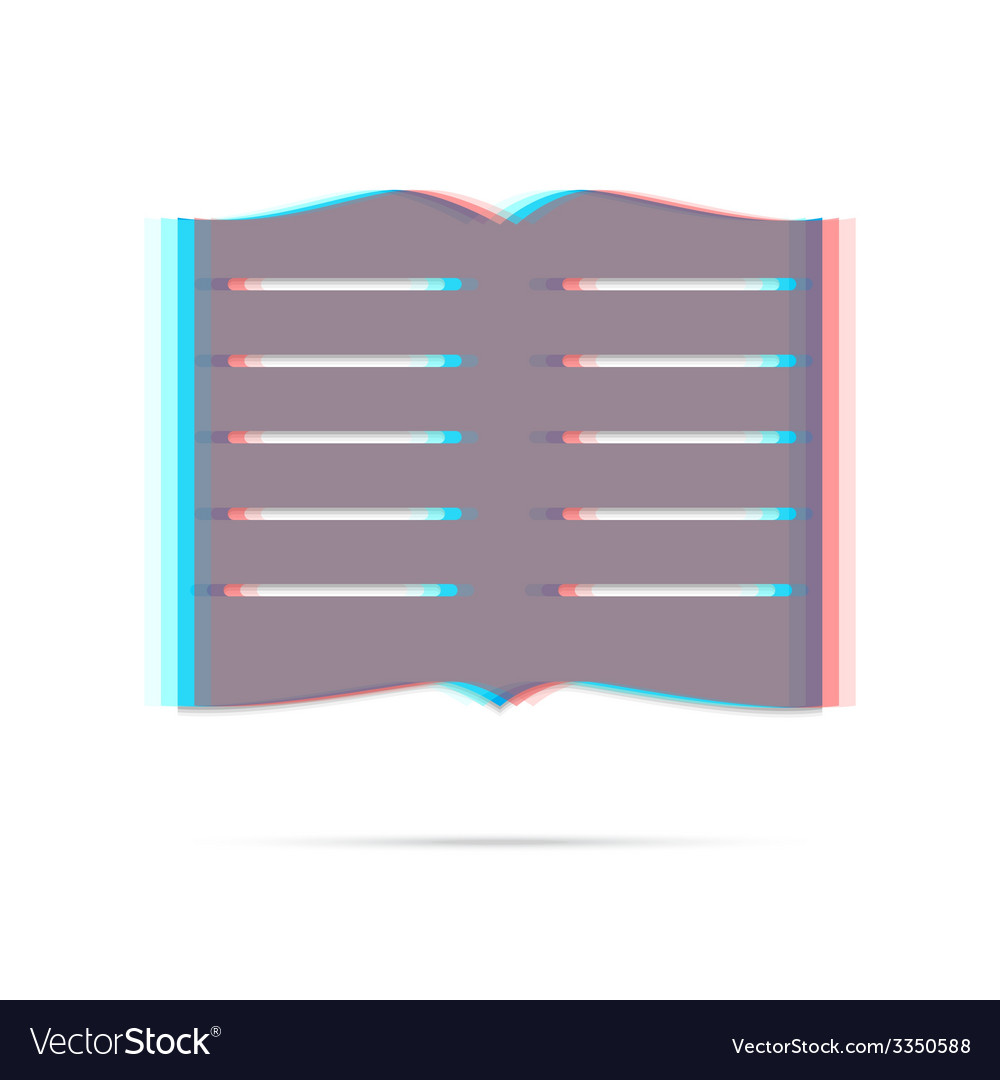 Book anagliph icon with shadow vector | Price: 1 Credit (USD $1)