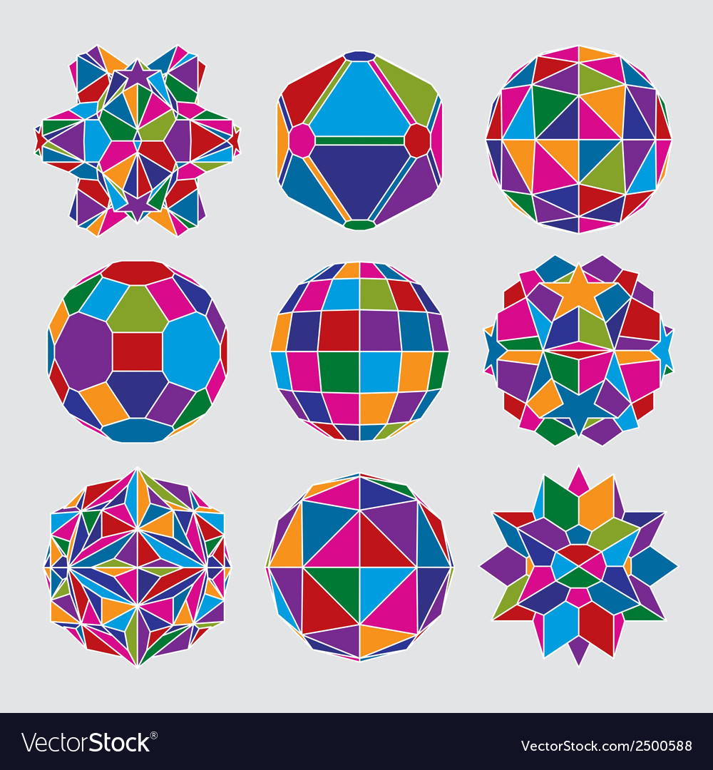 Collection of complex dimensional spheres and vector | Price: 1 Credit (USD $1)