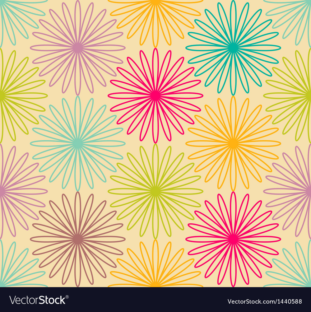 Colorful flower pattern vector | Price: 1 Credit (USD $1)