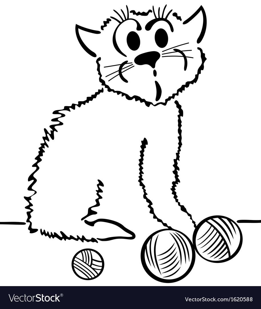 Domestic cat vector | Price: 1 Credit (USD $1)