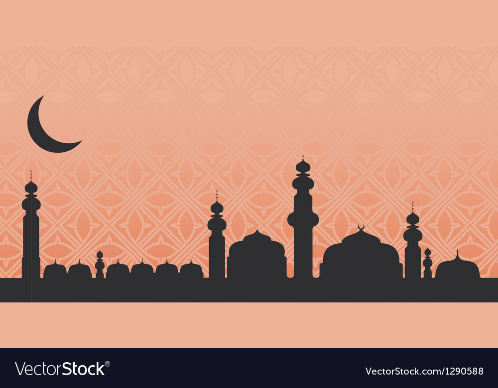 Islamic mosque background vector | Price: 1 Credit (USD $1)