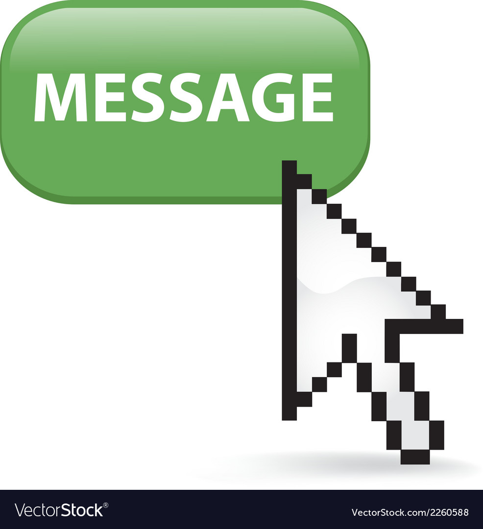 Message button click vector | Price: 1 Credit (USD $1)