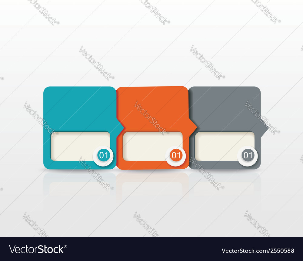 Paper tags labels banners in the pockets vector