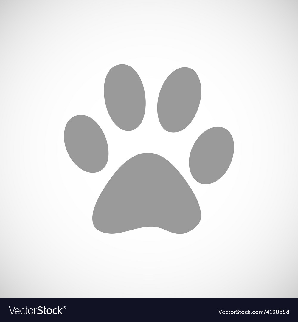 Paw black icon vector | Price: 1 Credit (USD $1)