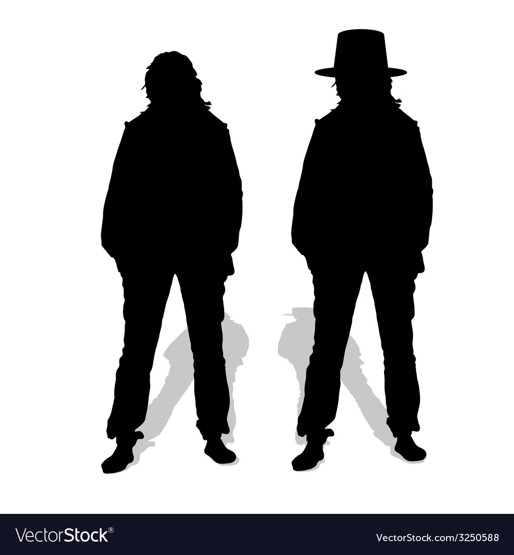 People couple silhouette vector | Price: 1 Credit (USD $1)