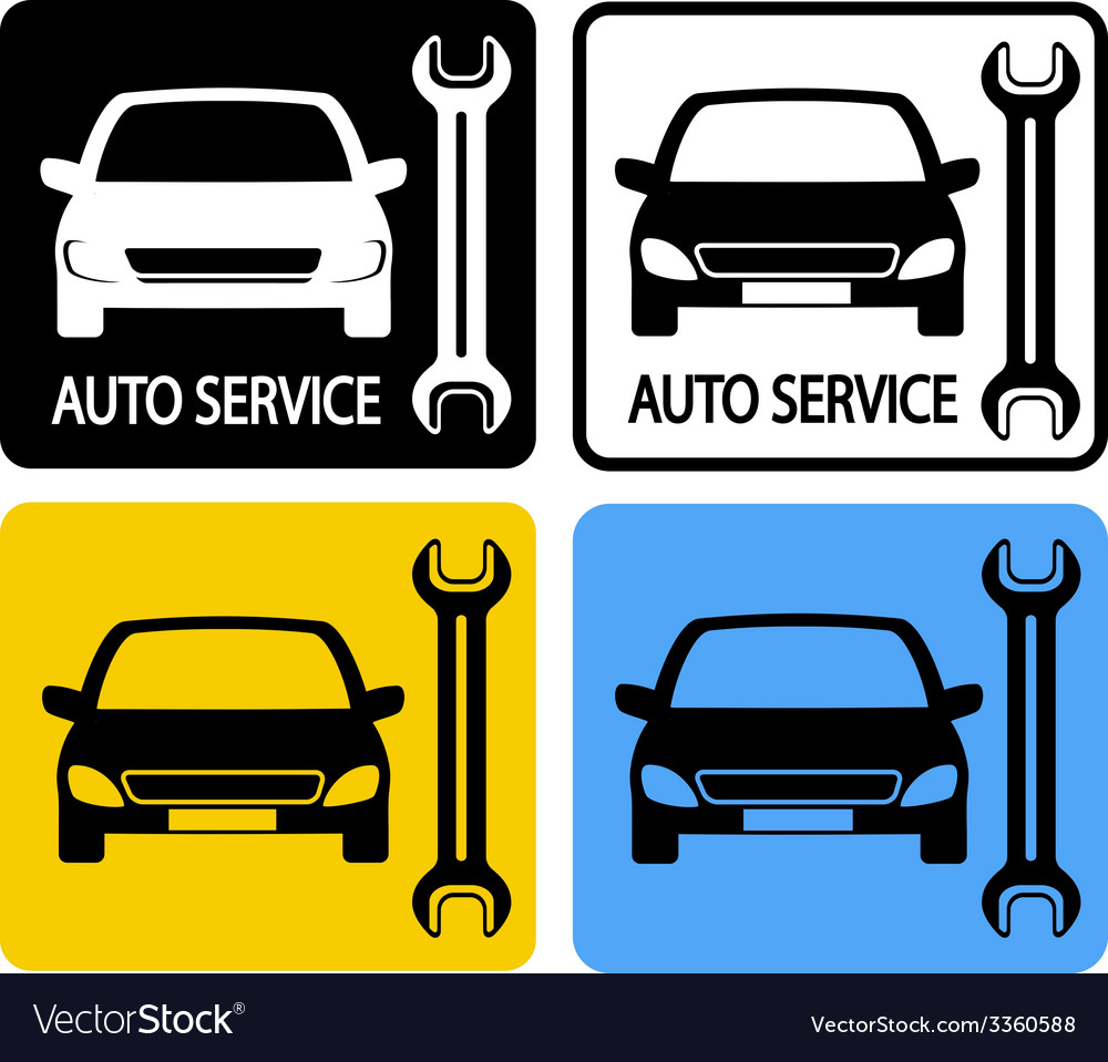 Set of auto service icons vector | Price: 1 Credit (USD $1)
