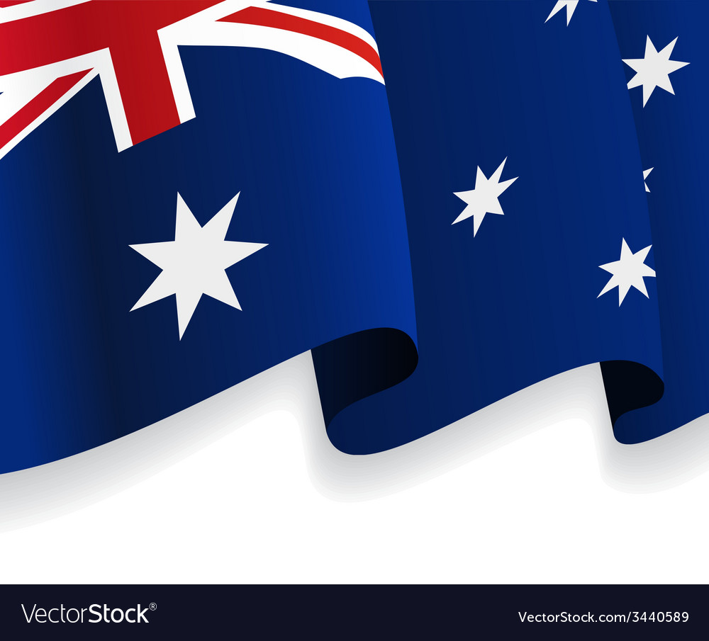 Background with waving australian flag vector | Price: 1 Credit (USD $1)