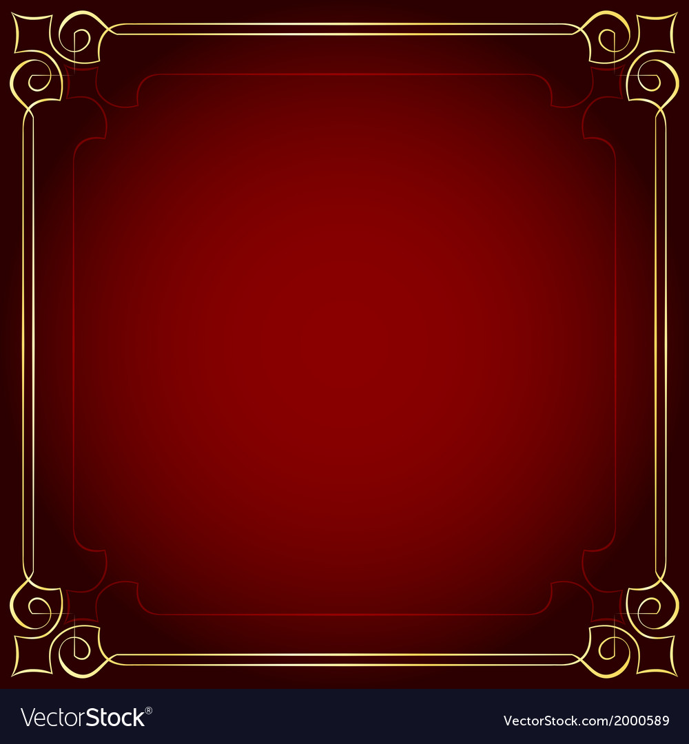 Beautiful frame on a red background vector | Price: 1 Credit (USD $1)
