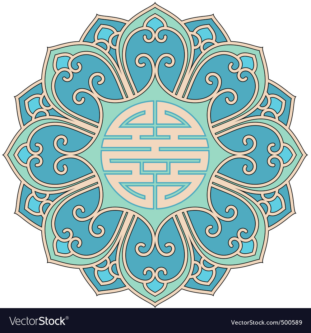 Chinese rosette vector | Price: 1 Credit (USD $1)
