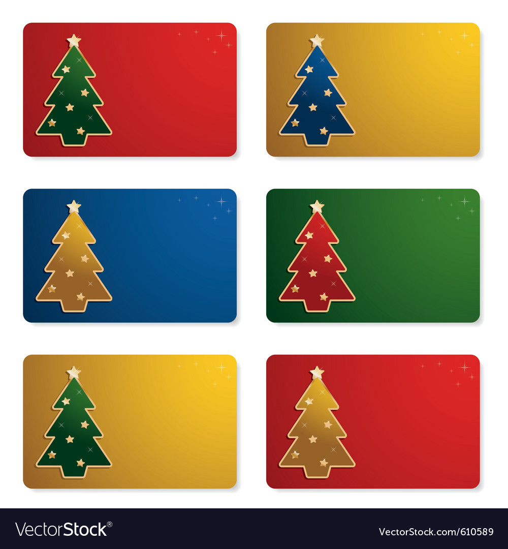 Christmas gift cards vector | Price: 1 Credit (USD $1)