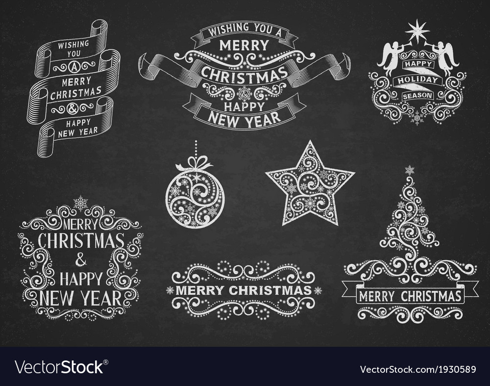 Christmas greeting labels vector | Price: 1 Credit (USD $1)