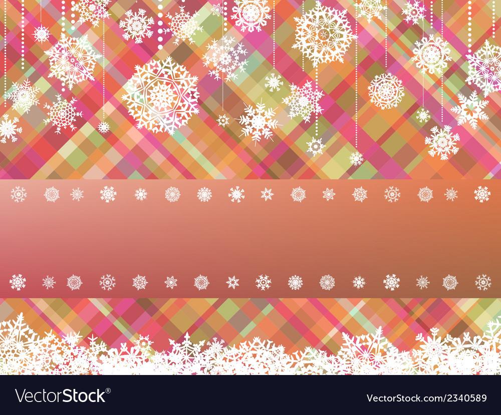 Christmas with christmas snowflake vector | Price: 1 Credit (USD $1)