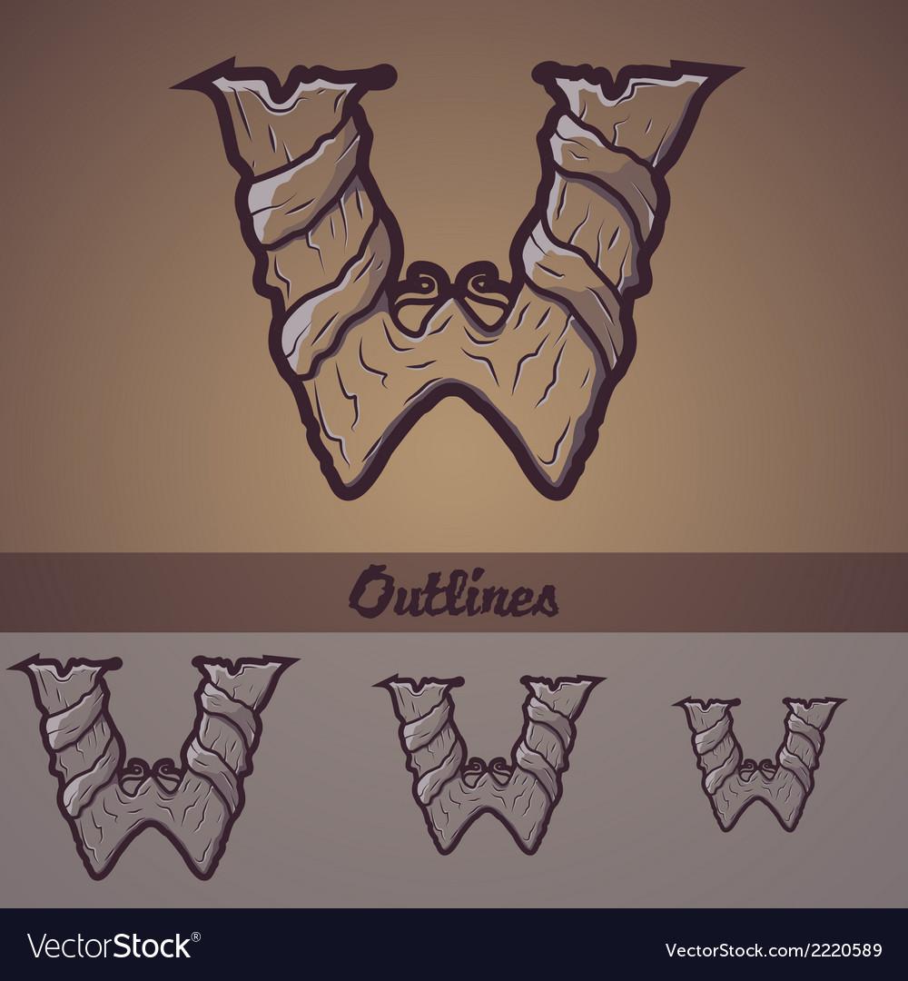 Halloween decorative alphabet - w letter vector | Price: 1 Credit (USD $1)