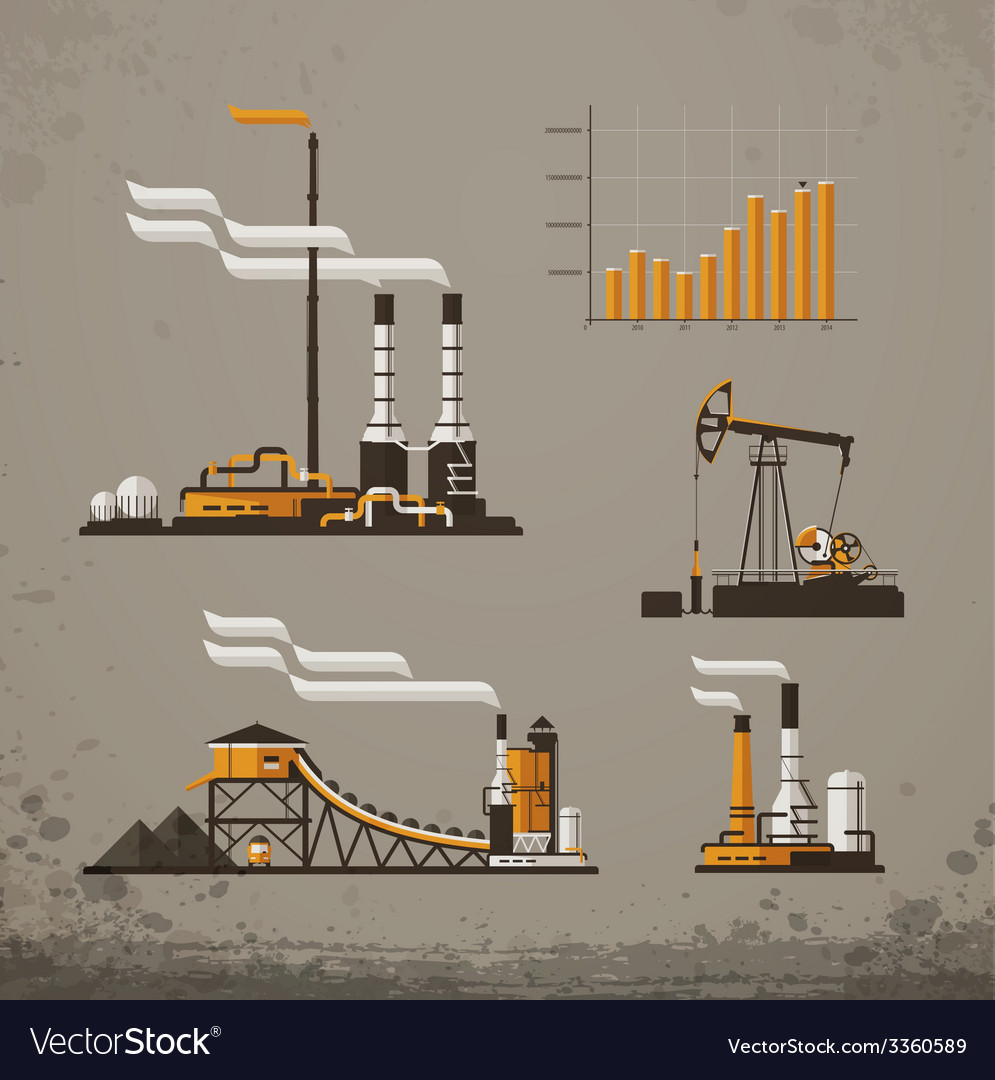 Industrial building factory and power plants icon vector | Price: 1 Credit (USD $1)