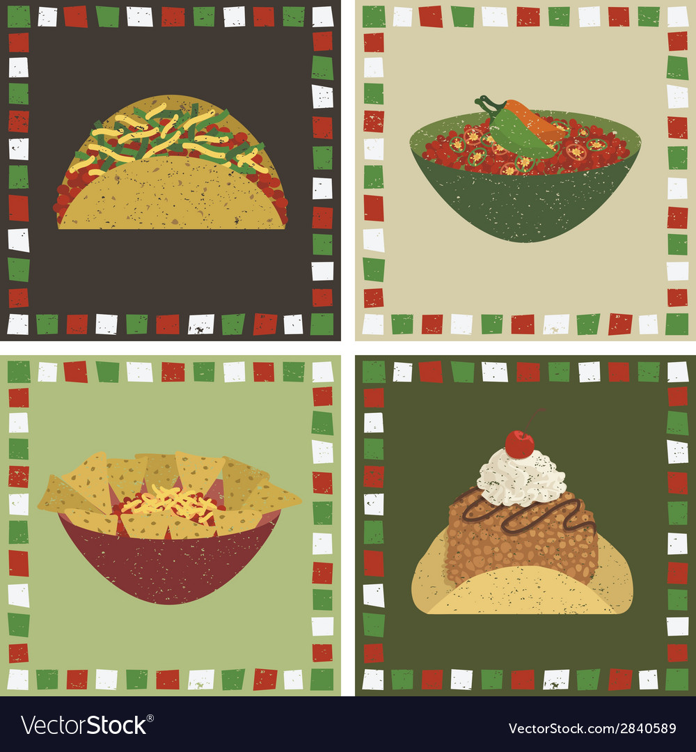 Mexican food decorations vector | Price: 1 Credit (USD $1)