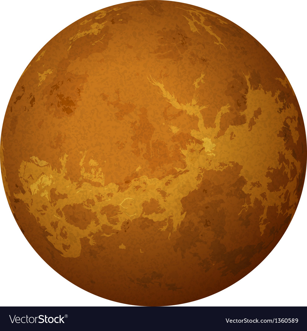 Planet venus isolated on white vector | Price: 1 Credit (USD $1)