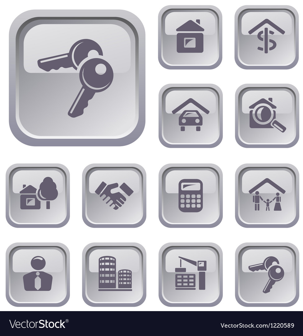 Real estate buttons vector | Price: 1 Credit (USD $1)