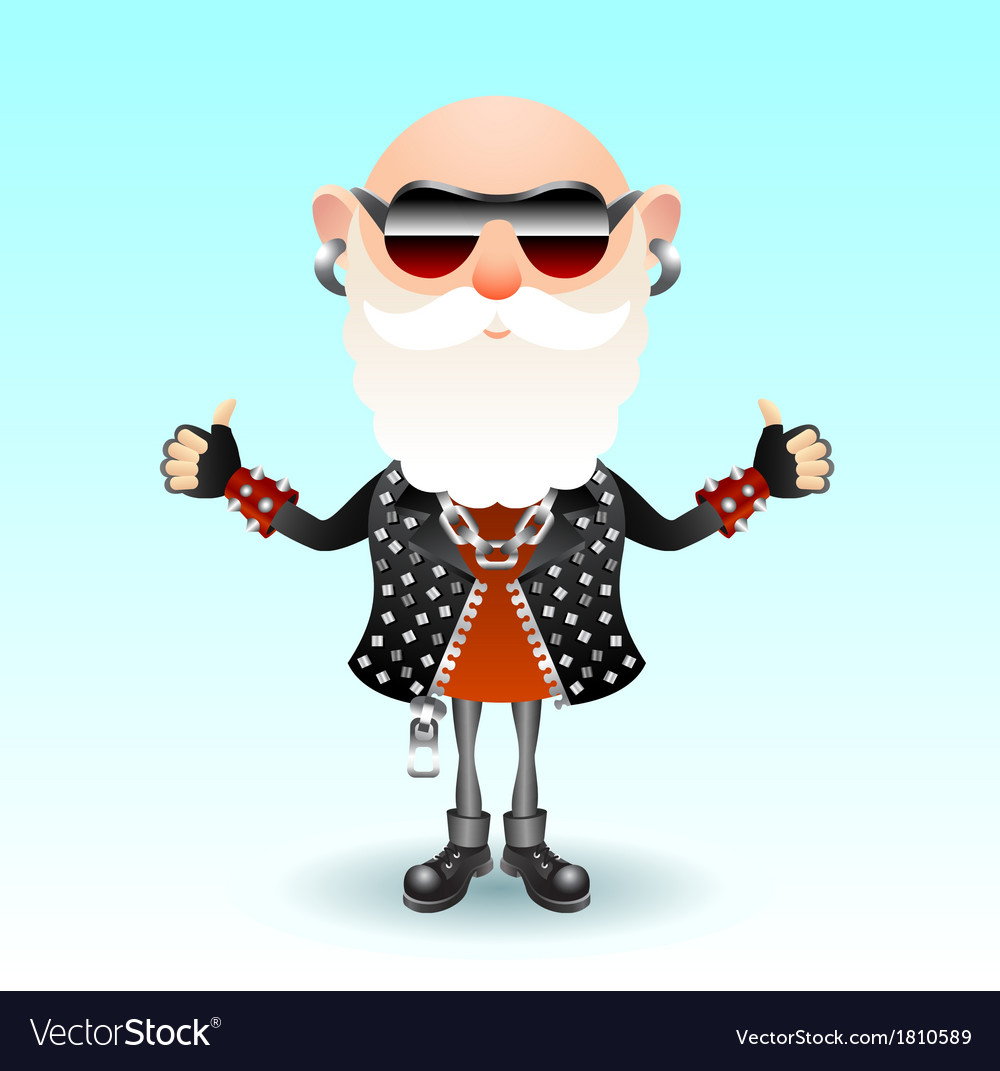 Rock old man vector | Price: 1 Credit (USD $1)
