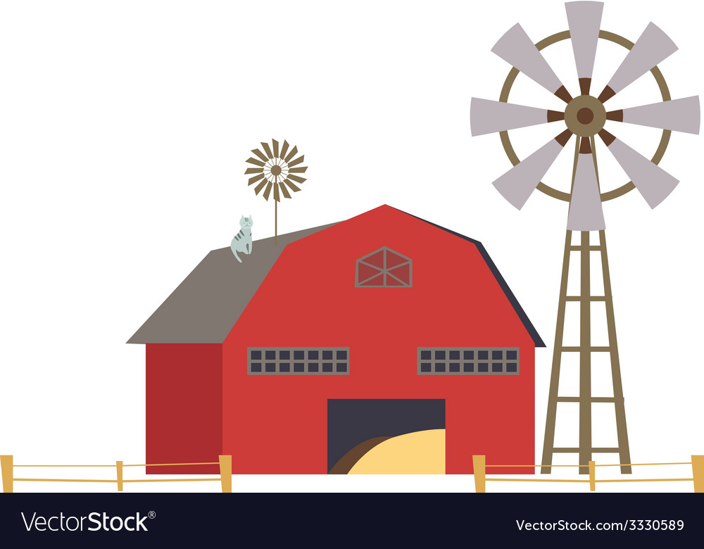 Rural house vector | Price: 1 Credit (USD $1)