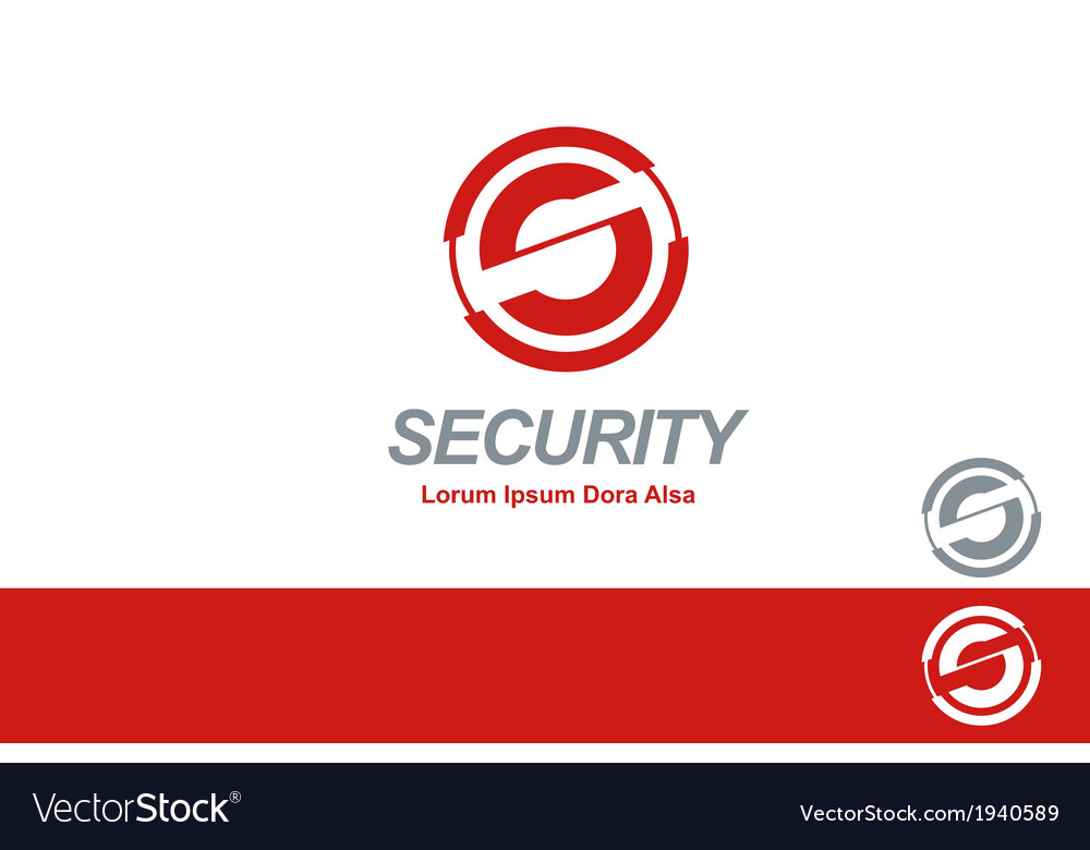 Security corporation business s logo concept vector