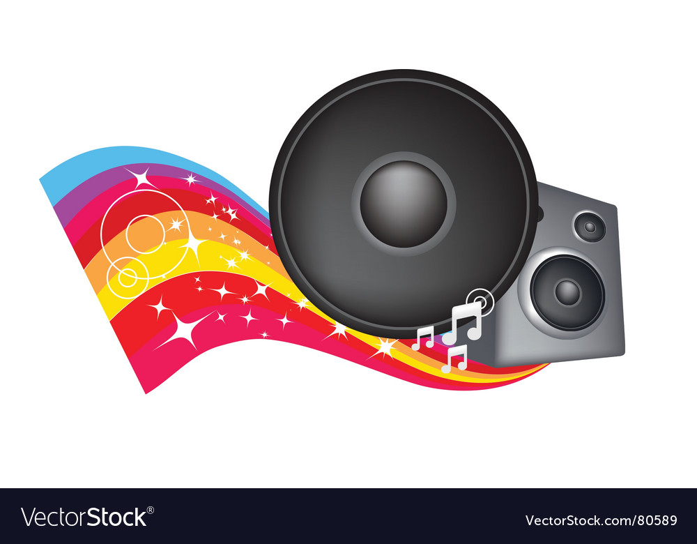 Speaker rainbow vector | Price: 1 Credit (USD $1)
