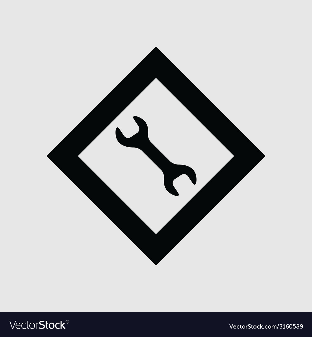 Wrench icon vector | Price: 1 Credit (USD $1)