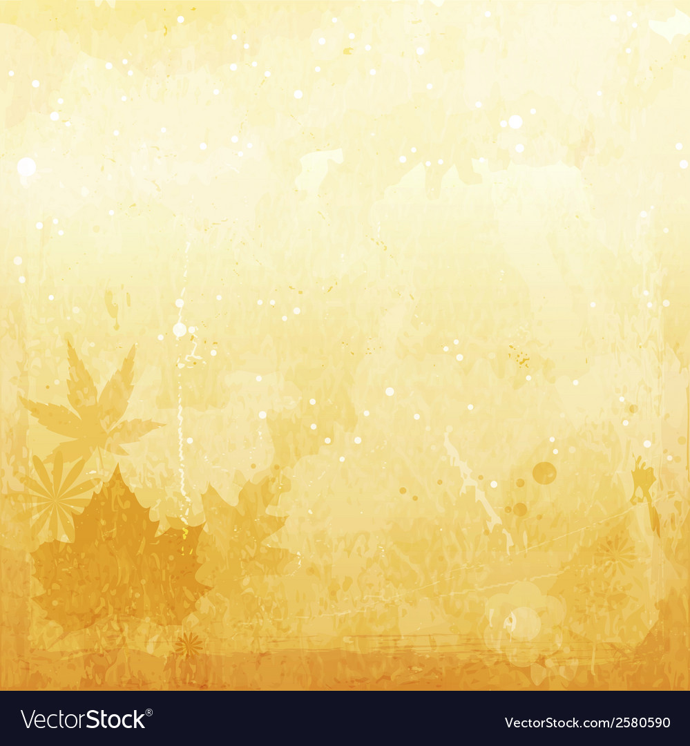 1407004 autumn grunge background with leaves vector