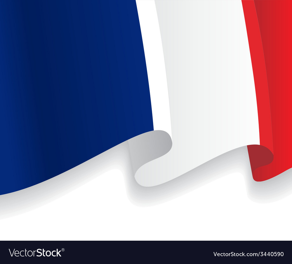 Background with waving french flag vector | Price: 1 Credit (USD $1)