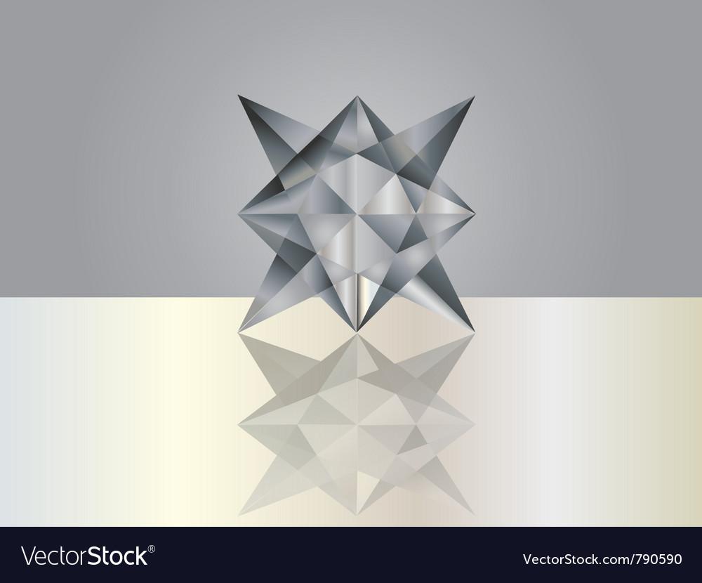 Black grey crystal vector | Price: 1 Credit (USD $1)